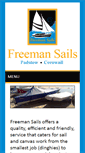 Mobile Preview of freemansails.co.uk